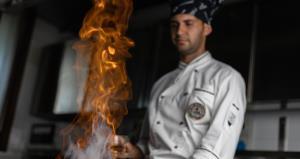Il Flambé del cuoco Aleksander